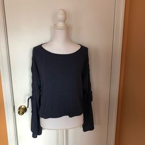 NEW Anthropologie Cloth & Stone Chambray Top Small